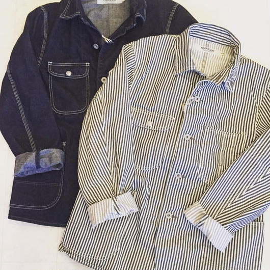 【 OMNIGOD 】COVERALL -HICKORY DENIM-