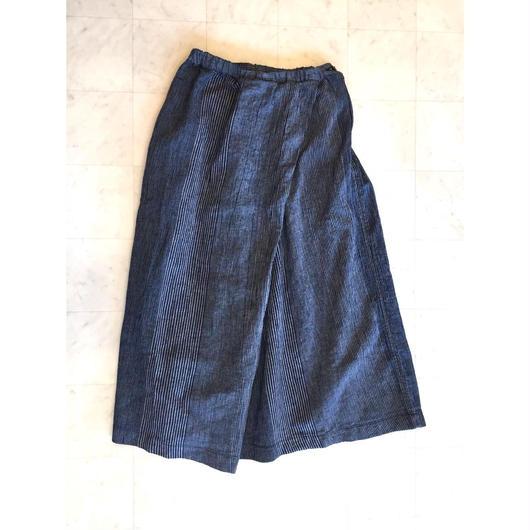 【 OMNIGOD 】Wrap skirt -Indigo-