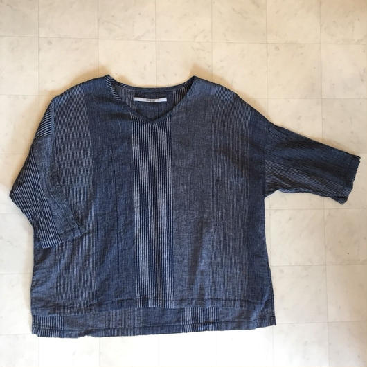 【 OMNIGOD 】V neck smoke blouse
