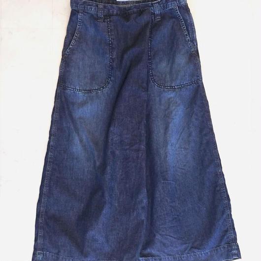 【 OMNIGOD 】Culote Skirt -Indigo-