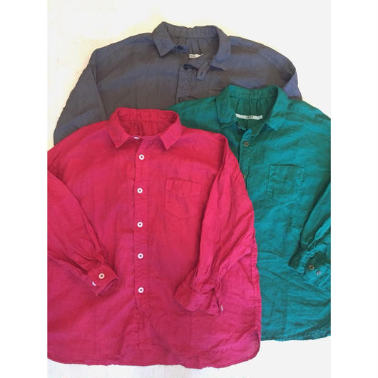 【 OMNIGOD 】Linen Wide work shirts