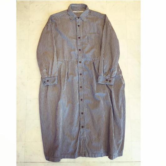 【 OMNIGOD 】Wide work dress -HICKORY-