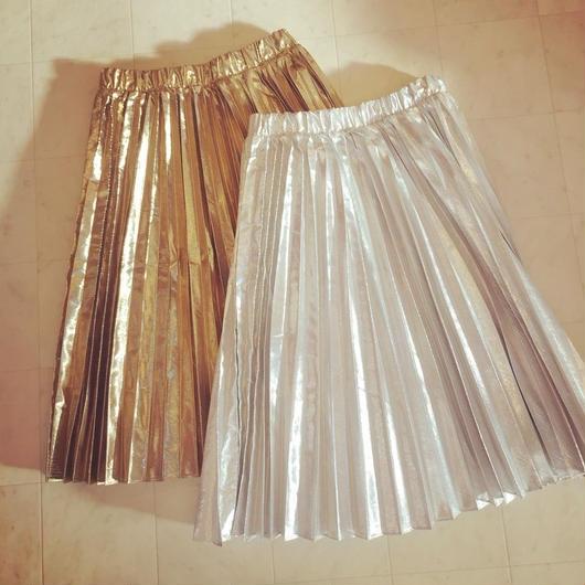 【 mania TOKYO 】Metalic pleat skirt