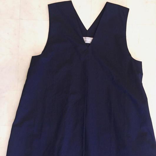 【 POTTENBURN TOHKI 】NAVY SHIMAI DRESS