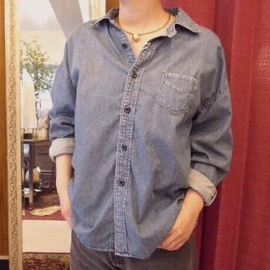 【 OMNIGOD 】5.5ozDenim Wide work shirts