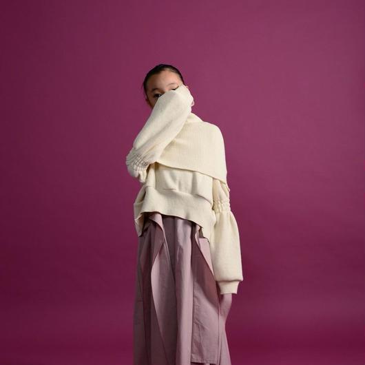 【 UNIONINI 】rich knit short pullover