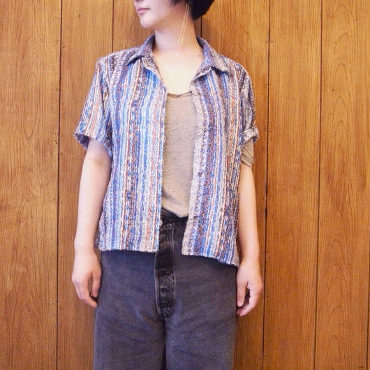 【 UN REAL 】Open Collar shirt