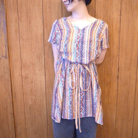 【 UN REAL 】2way Vneck Blouse