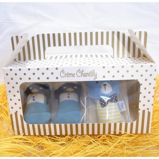 【 Creme Chantilly 】ソックス&ガラガラセット