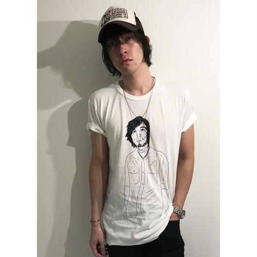 山崎洋一郎Tシャツ(オフホワイト/3サイズ)
