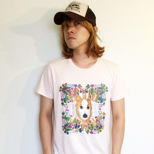 #1『D.O.G. is G.O.D』Tシャツ(ベビーピンク/4サイズ)