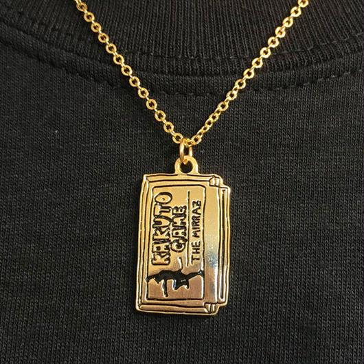 格闘ゲームカセット型ネックレス  (ゴールド)
