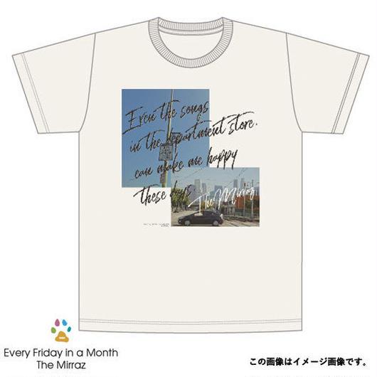 #4『最近じゃデパートのオリジナルソングにすら幸せを感じるんだ』 Tシャツ(オートミール/4サイズ)