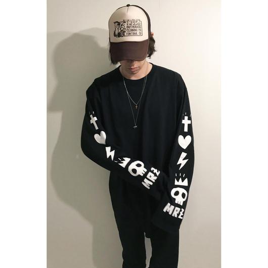 オーバーロングスリーブTシャツ(ブラック/2サイズ)
