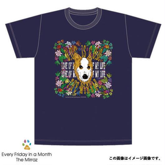#1『D.O.G. is G.O.D』Tシャツ(ダークネイビー/4サイズ)