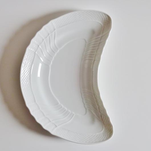 リチャードジノリ ベッキオホワイト クレセントディッシュ24cm