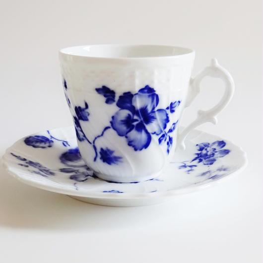 リチャードジノリ ローズブルー  コーヒーカップ&ソーサーL
