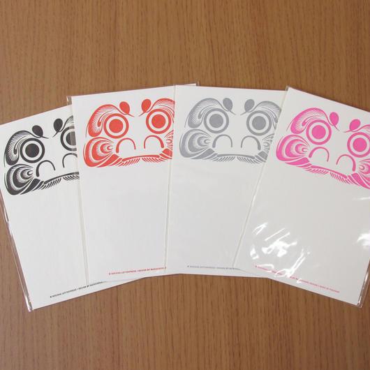 活版だるまポストカード4枚セット(たて型)