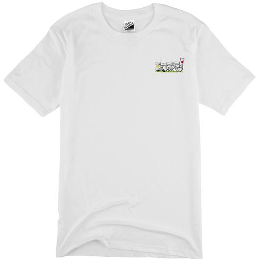 攻城団ロゴTシャツ(白、背面)