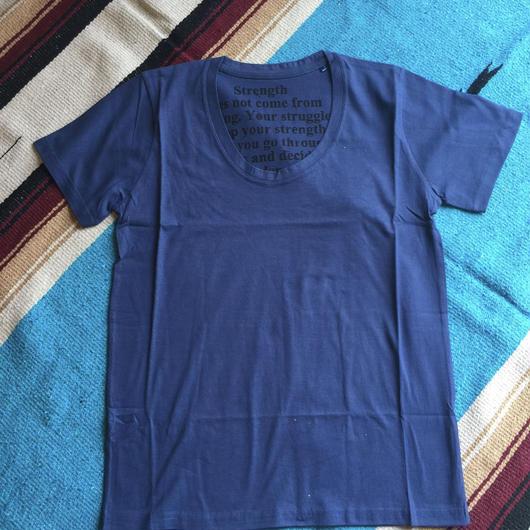 深丸首Tシャツ ネイビー Sサイズ