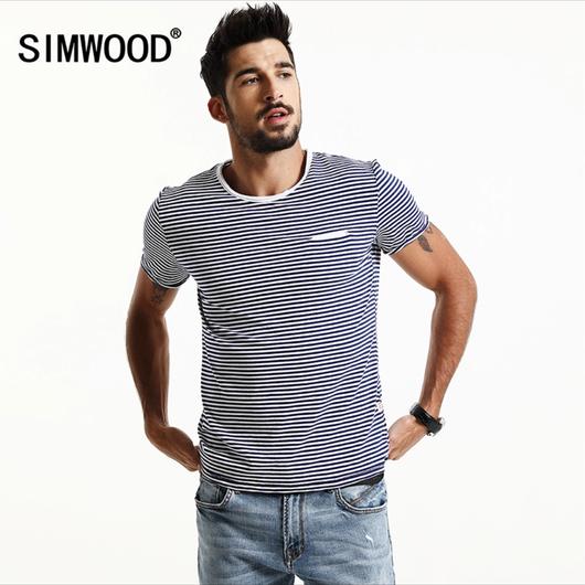 ボーダーTシャツ ネイビー/ホワイト Lサイズ