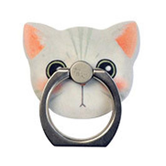 猫型 ホールド リング  03.Clara(シロ)
