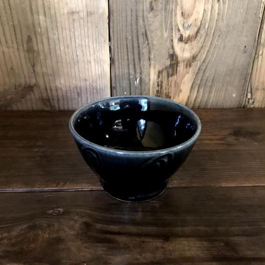 瑠璃釉 藁描碗 / 延興寺窯 E204