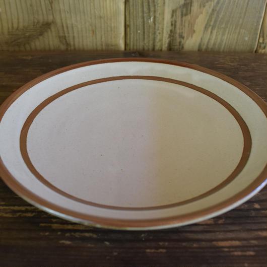 平皿 7寸 二重縁 石見焼 / 宮内窯 C101