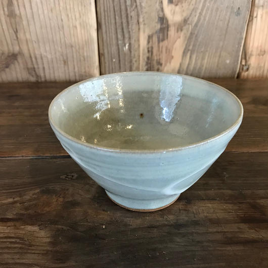 飯碗 丸紋 白 / 福光焼  D202