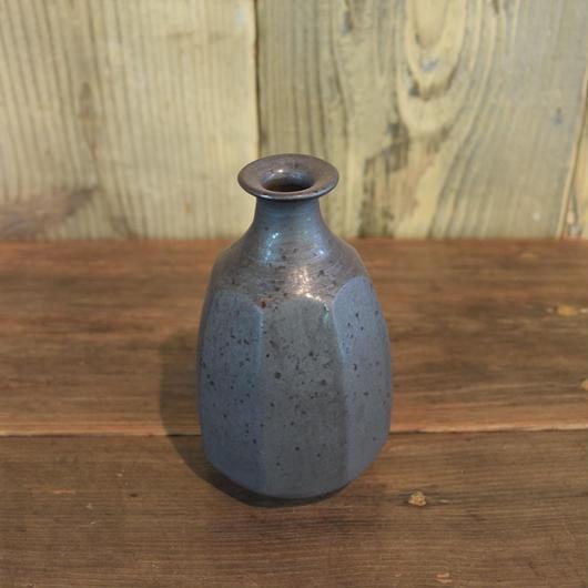 面取 瓶 黒 / 福光焼  D401