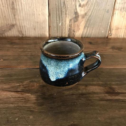 マグカップ 海鼠釉 深青 丸型 / 湯町窯 A332