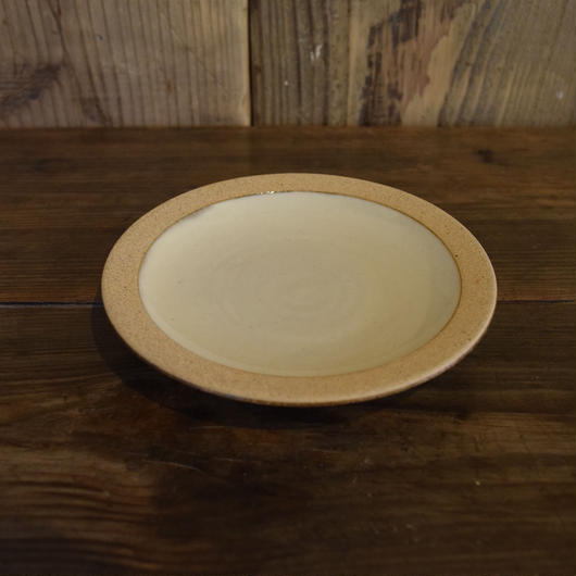 4.5寸皿 縁焼〆白 / 出西窯 I113