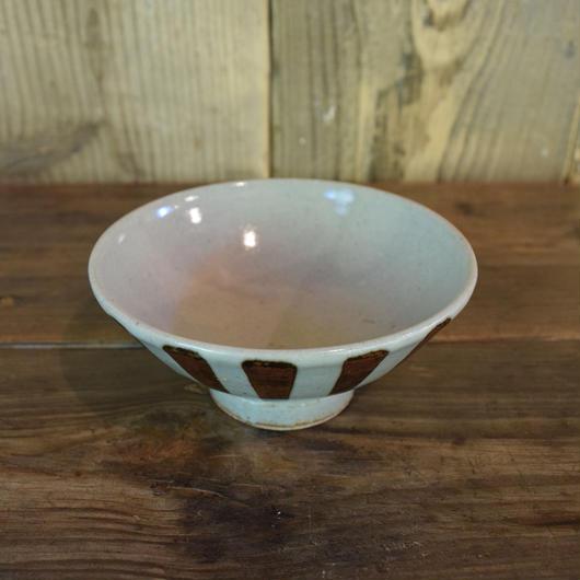 茶碗 大 鉄十草 / 袖師焼 B207