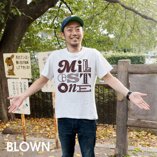 「milestone」Tシャツ
