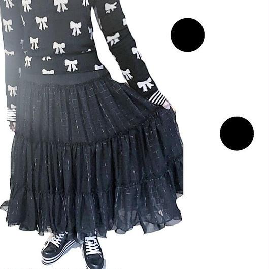 cotobuki 黒チェックティアードスカート
