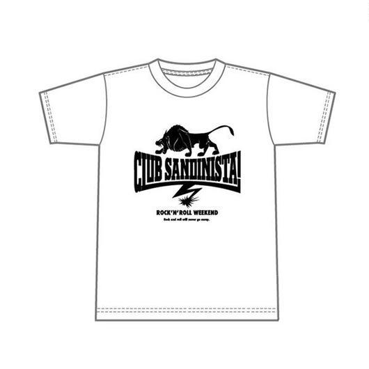 LOGO T-SHIRT (ホワイト)  / CLUB SANDINISTA!