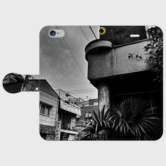 福岡県・大浜赤線 iPhoneケース(手帳型)