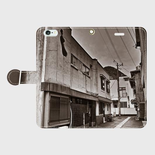 福岡県・新町赤線 iPhoneケース(手帳型)