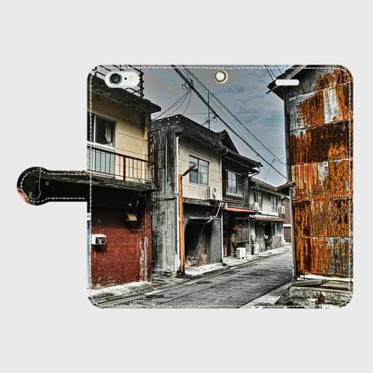 大分県・津久見市赤線 iPhoneケース(手帳型)