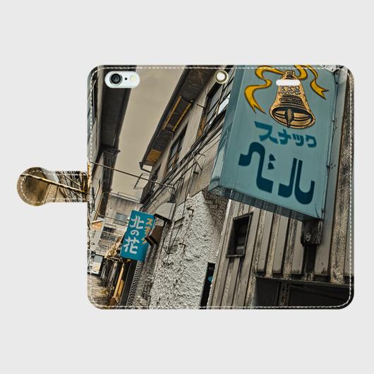 岐阜県・多治見市スナック街 iPhoneケース(手帳型)