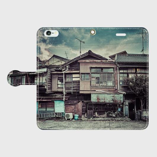山口県・下関新地遊廓 iPhoneケース(手帳型)