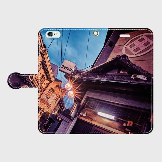 大阪府・松島遊廓 iPhoneケース(手帳型)