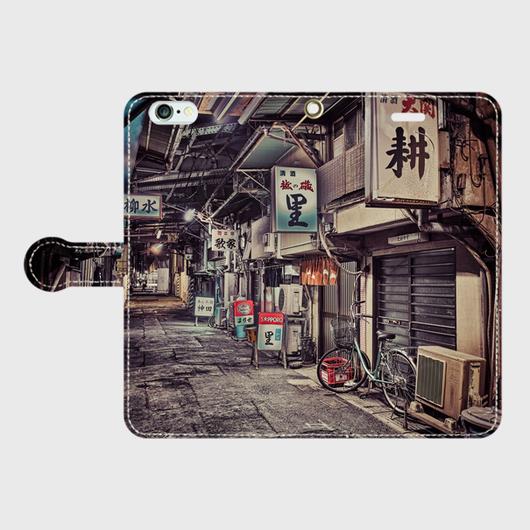 東京都・今川小路 iPhoneケース(手帳型)