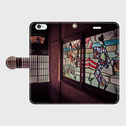 京都府・橋本遊廓 iPhoneケース(手帳型)