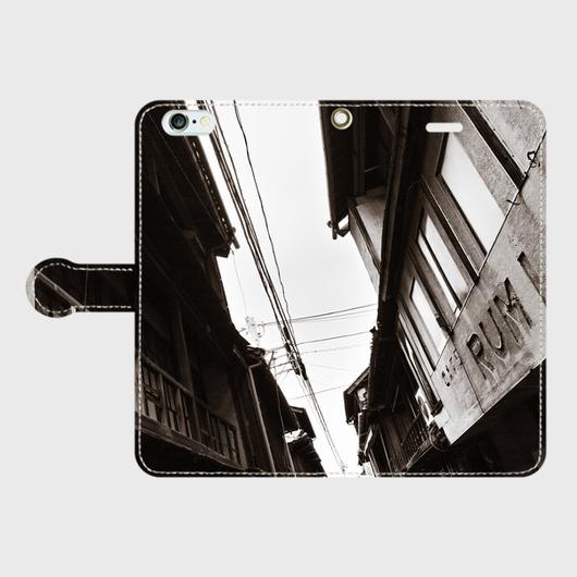 広島県・木ノ江遊廓《カフェーRUMI》 iPhoneケース(手帳型)