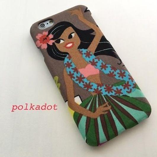夏にピッタリ!可愛いアロハガールの iPhoneケース   <モカ>