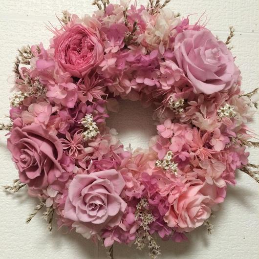 ピンクのリース