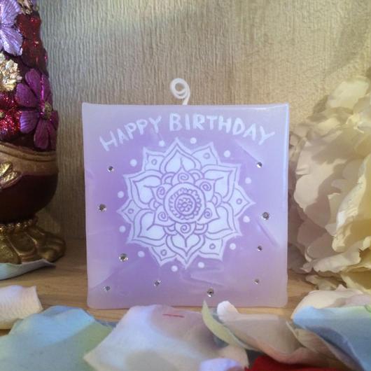 お誕生日プレゼント用キャンドル★ストーン付き★(香りなし)