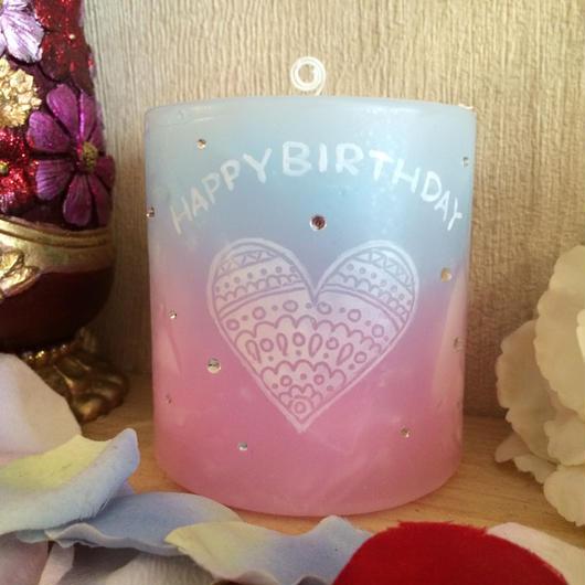 お誕生日プレゼント用キャンドル★ラインストーン付き★(香りなし)