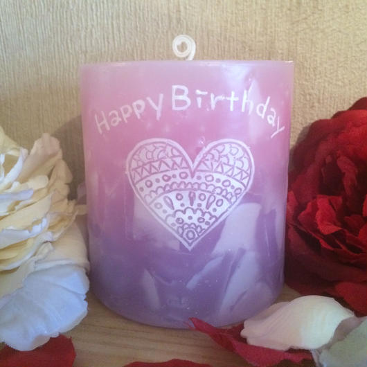 お誕生日プレゼントキャンドル(ムスクの香り)
